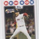 Josh Beckett WS HL Baseball Trading Card 2008 Topps #217 Red Sox QTY