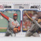 Bob Gibson Ubaldo Jimenez Legendary Lineage 2010 Topps #LL65 Cardinals Rockies