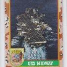 USS Midway Trading Card 1991 Topps Desert Storm #56 *BOB