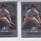 CC Sabathia Baseball Trading Card Lot of (2) 2010 Bowman #21 Yankees