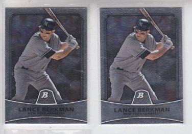 Lance Berkman Baseball Trading Card Lot of (2) 2010 Bowman #85 Yankees