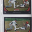 Robinson Cano Baseball Trading Card Lot of (2) 2011 Bowman Chrome #102 Yankees