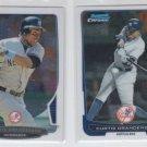 Curtis Granderson Trading Card Lot of (2) 2012 & 2013 Bowma Chrome Yankees