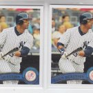 Eric Dickerson Baseball Card Lot of (2) 2011 Topps Update Series #279 Yankees