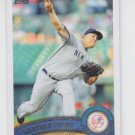 Bartolo Colon Baseball Trading Card 2011 Topps Update Series #US149 Yankees