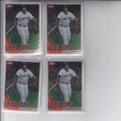 David Ortiz Baseball Trading Card Lot of (4) 2010 Topps Chrome #128 Red Sox