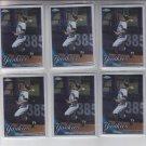 Curtis Granderson Baseball Trading Card Lot of (6) 2010 Topps Chrome #71 Yankees