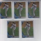 Javier Vazquez Baseball Card Lot of (5) 2010 Topps Chrome #81 Yankees
