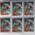 Dustin Pedroia Baseball Trading Card Lot of (6) 2010 Topps Chrome #267 Red Sox