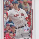 Will Middlebrooks Baseball Trading Card 2014 Topps Opening Day #133 Red Sox