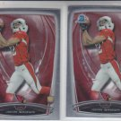 John Brown RC Football Trading Card Lot of (2) 2014 Bowman Chrome #219 Cardinals