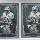 Shaquelle Evans RC Trading Card Lot of (2) 2014 Bowman Chrome 204 Jets
