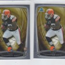 Terrance West RC Trading Card Lot of (2) 2014 Bowman Chrome 202 Browns