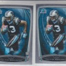 Kelvin Benjamin RC Trading Card Lot of (2) 2014 Bowman Chrome 180 Panthers
