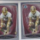 Ryan Grant RC Trading Card Lot of (2) 2014 Bowman Chrome 188 Redskins