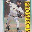 Gil Heredia RC Baseball Trading Card 1992 Fleer #665 Giants