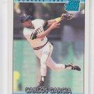 Carlos Garcia Rated Rookie Baseball Trading Card 1992 Donruss#14 Pirates