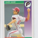 Andy Ashby Baseball Trading Card 1992 Score #396 Phillies