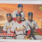 Ozzie Smith Pena Ray Lankford Bernard Gilkey 1993 Upper Deck #482 Cardinals