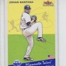 Johan Santana Baseball Trading Card Single 2001 Fleer Tradition Update #U134