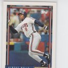 Albert Belle Baseball Trading Card Single 1992 Topps #785 Indians