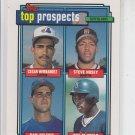 Cesar Hernandez Steve Hosey Jeff McNeely Dan Peltier 1993 Topps #618 RC