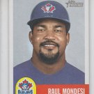 Raul Mondesi Baseball Trading Card Single 2002 Topps Heritage #97 Blue Jays