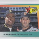Will Clark & Bobby Bonilla Super Stars 1992 Fleer #699 Giants