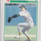 Steve Chitren RC Baseball Trading Card 1991 Score #760 Athletics