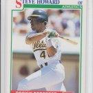 Steve Howard RC Baseball Trading Card 1991 Score #364 Athletics QTY