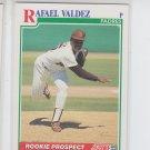 Rafael Valdez RC Baseball Trading Card 1991 Score #360 Padres