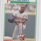 Pete Coachman RC Baseball Trading Card 1991 Score #344 Angels