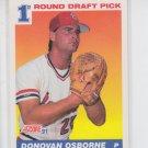 Donovan Osborne RC Baseball Trading Card 1991 Score #677 Cardinals QTY