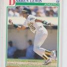 Darren Lewis RC Baseball Trading Card 1991 Score #350 Athletics