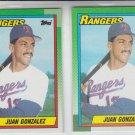 Juan Gonzalez RC Trading Card Lot of (2) 1991 Topps #331 Rangers