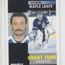 Grant Fuhr Hockey Trading Card 1991-92 Pinnacle French #168 Maple Leafs