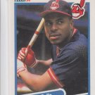 Joey Belle RC Trading Card Single 1990 Fleer #485 Indians