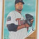 Francisco Liriano Baseball Trading Card Single 2011 Topps Heritage #230 Twins