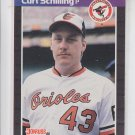 Curt Schilling RC Trading Card 1989 Donruss #635 Orioles Red Sox NMMT