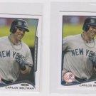 Carlos Beltran Trading Card Lot of (2) 2014 Topps Mini Exclusives #593 Yankees