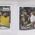 Mike Napoli WS HL Trading Card Lot of (2) 2014 Topps Mini Exclusives #22 Red Sox