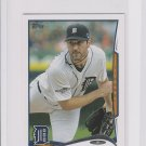 Justin Verlander Trading Card Single 2014 Topps Mini Exclusives #450 Tigers