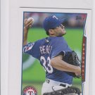 Martin Perez Future Stars Trading Card 2014 Topps Mini Exclusives 92 Rangers
