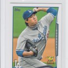 Hyun-Jin Ryu Trading Card Single 2014 Topps Mini #40 Dodgers