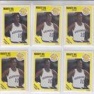 Manute Bol Trading Card Lot of (6) 1989-90 Fleer #52 Warriors NMMT