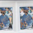 Luke Hochevar Trading Card Lot of (2) 2014 Topps Mini #586 Royals