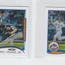 Eric Young Jr Trading Card Lot of (2) 2014 Topps Mini #436 Mets