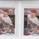 Trevor Cahill Trading Card Lot of (2) 2014 Topps Mini #35 Diamondbacks