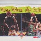 Moses Malone & Alex English Trading Card Single 1991-92 Hoops #315