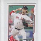 Clay Buchholz Trading Card Single 2014 Topps Mini #53 Red Sox